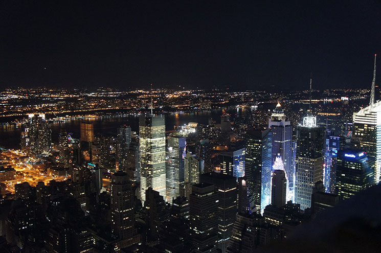 top of the rock ou empire state noite