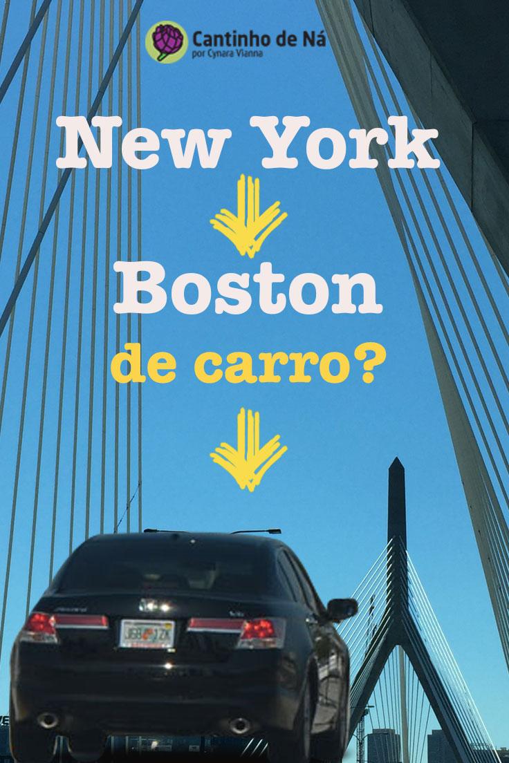 Vale a pena ir de carro de New York para Boston?