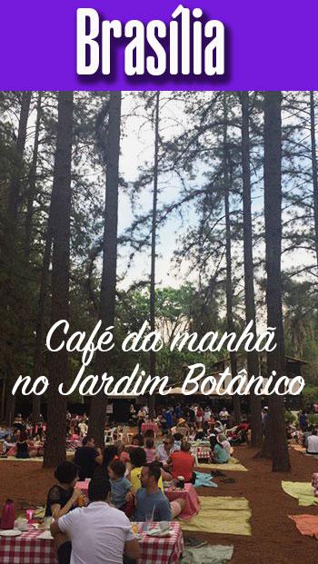 Café da manhã num bistrot no Jardim Botânico de Brasília