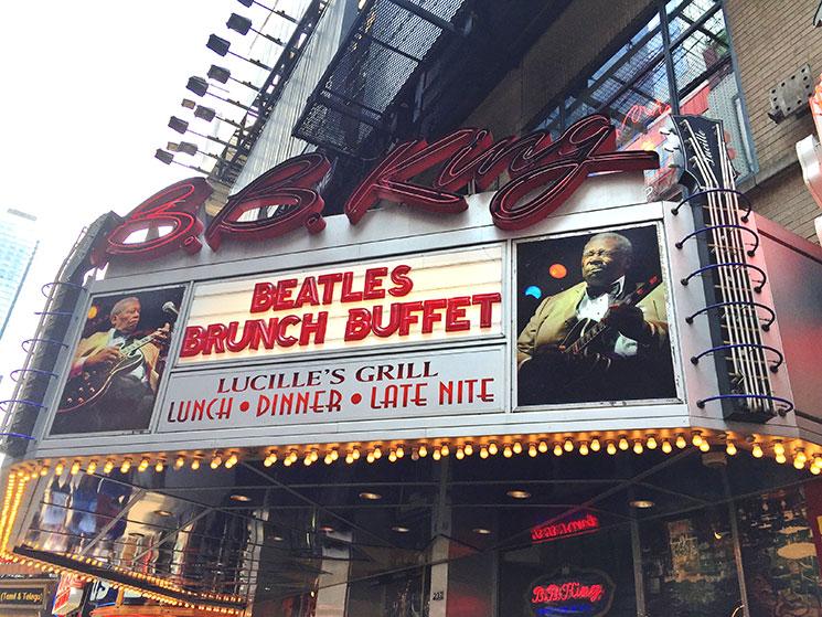 Beatles Brunch Buffet no B.B. King Club em New York