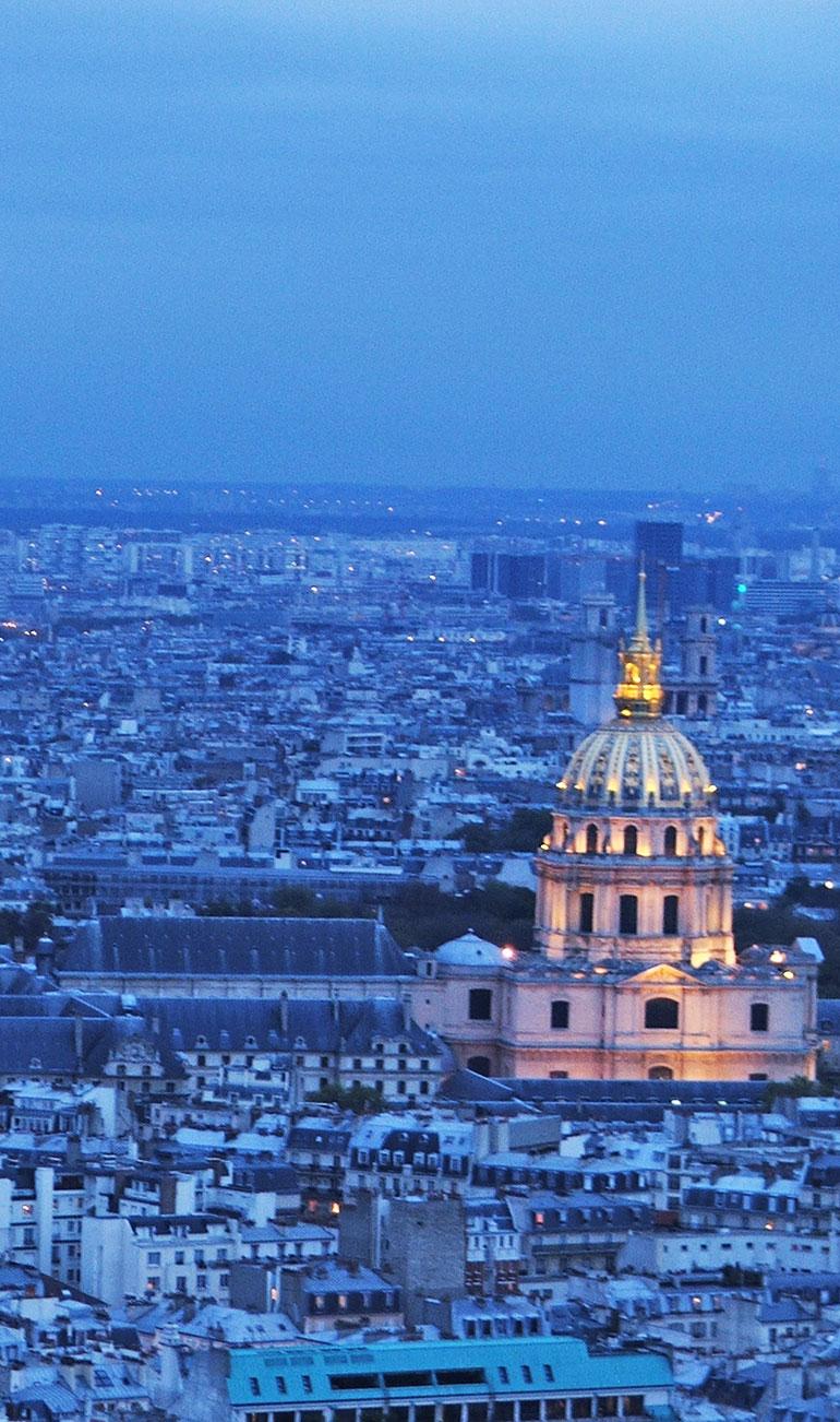 Não deixe de ver Paris do alto, é deslumbrante