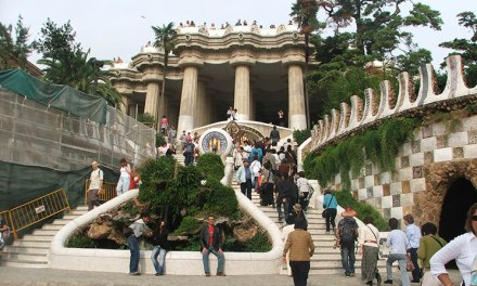 Parque Güell em Barcelona, uma das belezas de Gaudí