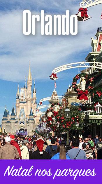 Como é o Natal nos parques em Orlando