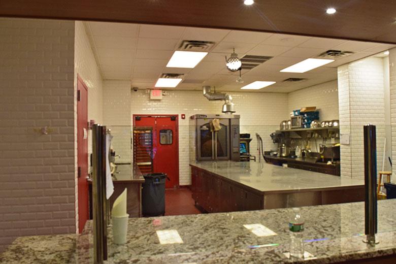 Cozinha da Carlo's Bake Shop em New Jersey