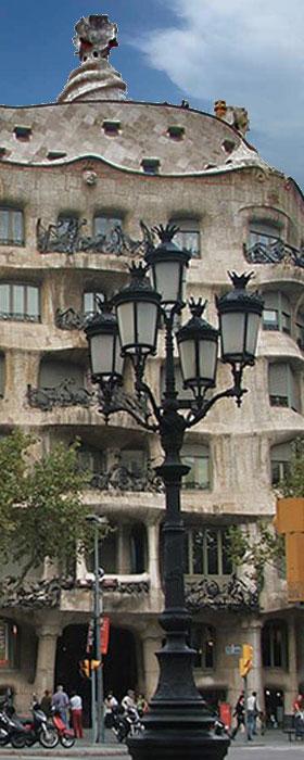 Casa MIlá ou La Pedrera em Barcelona