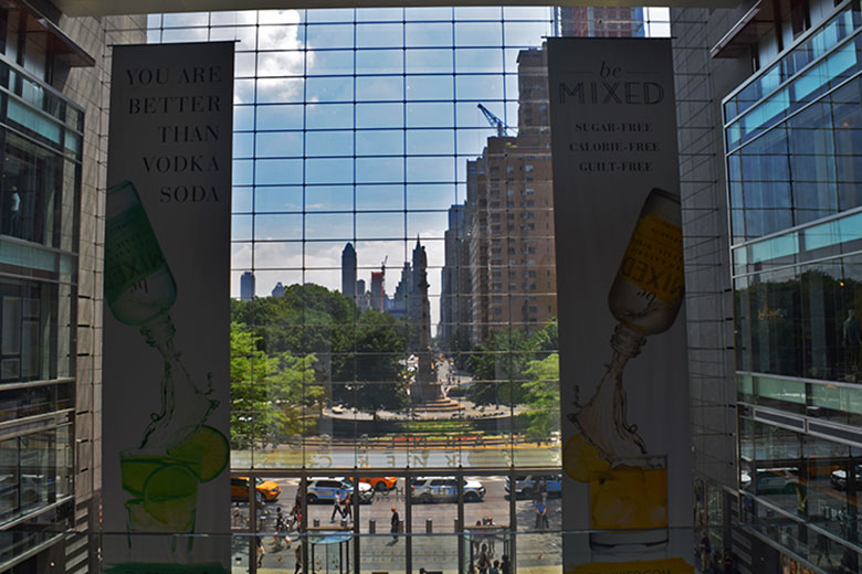 Vista do Columbus Circle