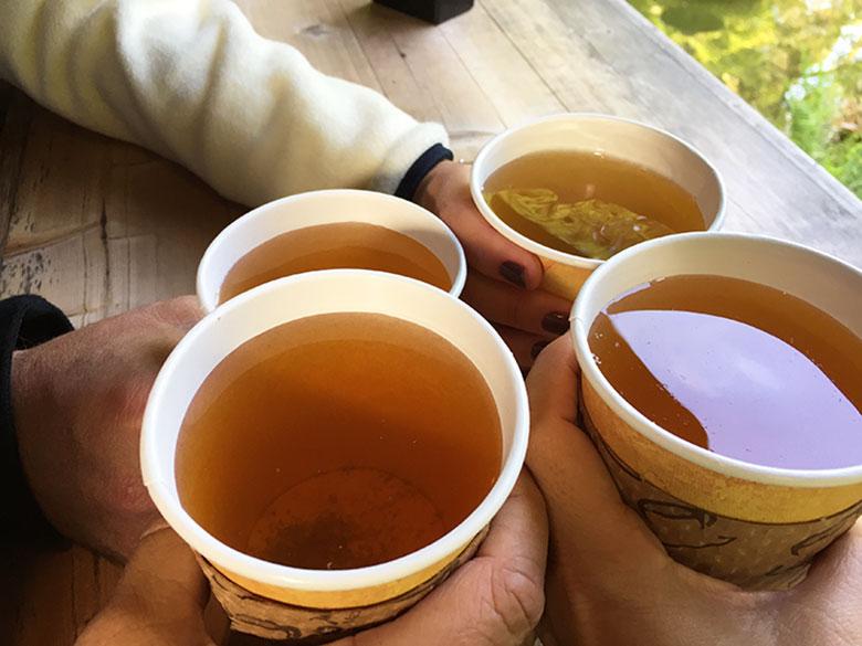 Chá da Tea House no Jardim Japonês em San Francisco