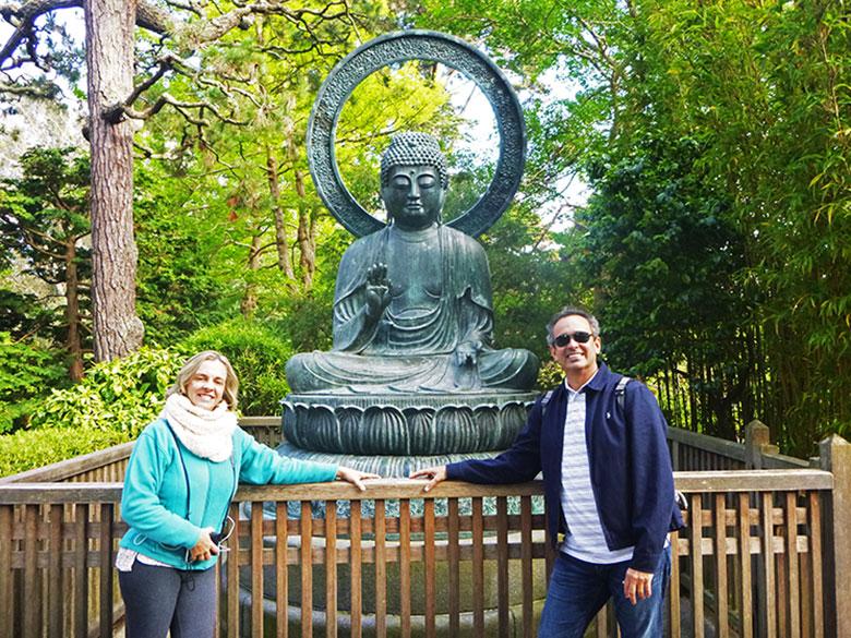 Estátua de Buda no Jardim Japonês de San Francisco