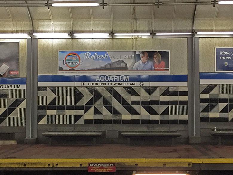 Estação de metrô em Boston