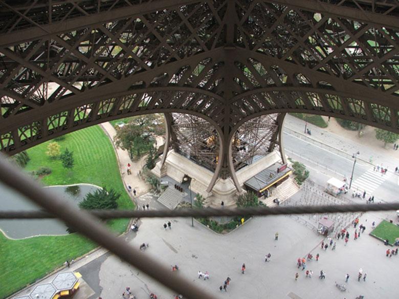 Torre Eiffel do alto do primeiro nível