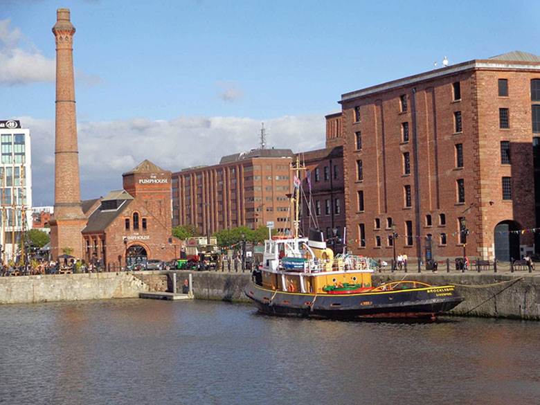 Liverpool no interior da Inglaterra