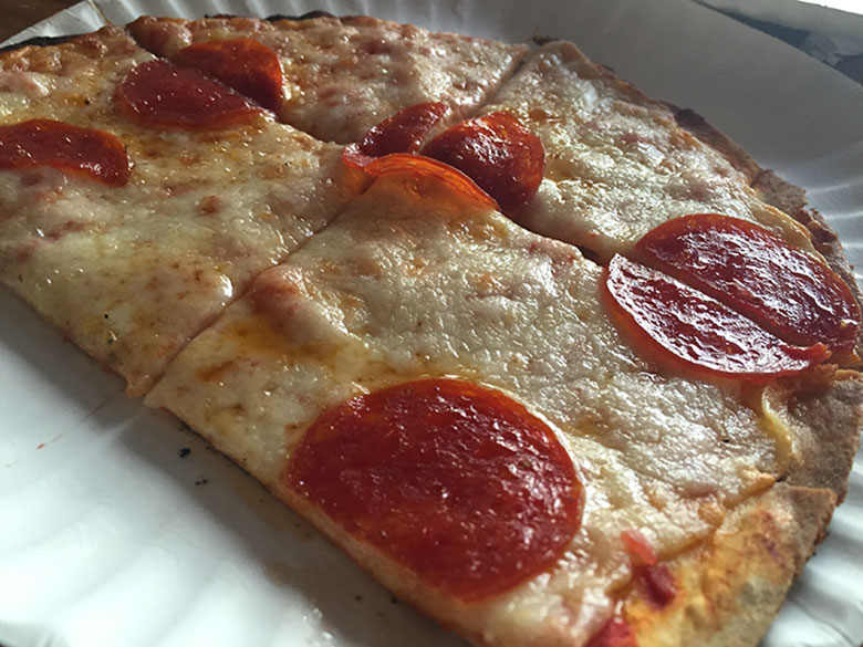 Pizza na Union Square em New York