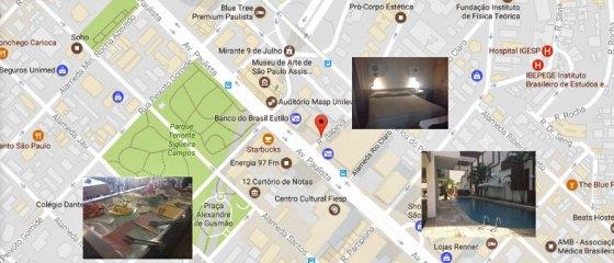 Lista de hotéis perto da Av. Paulista em São Paulo