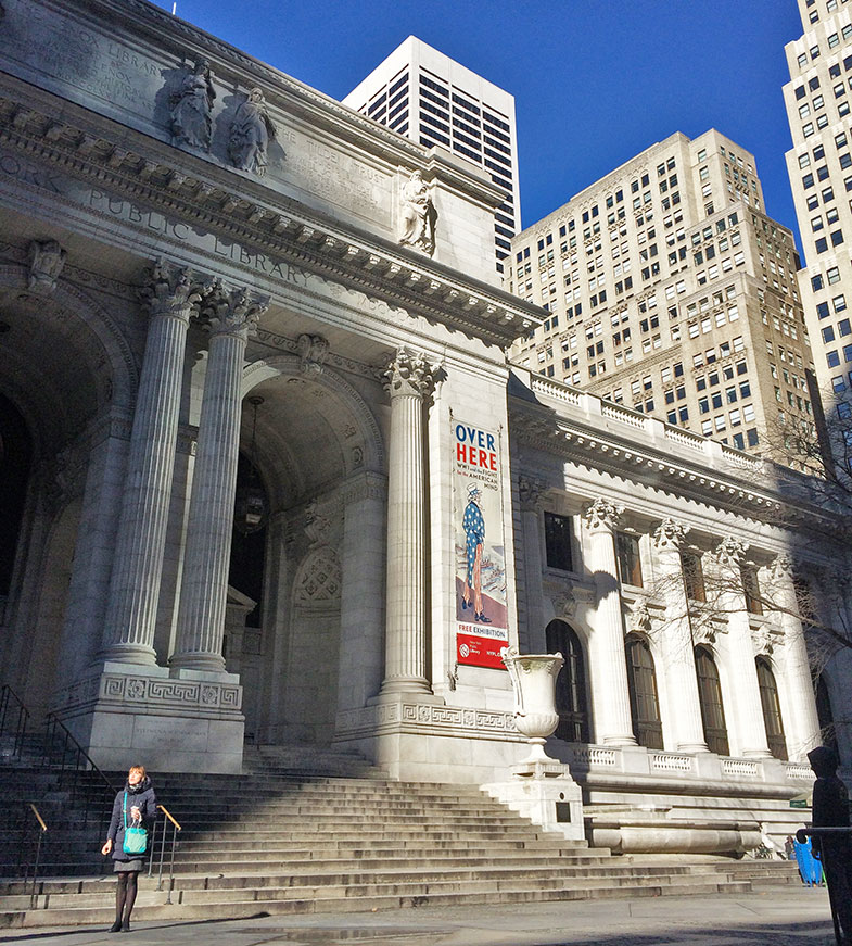 Fachada de Biblioteca Pública de New York