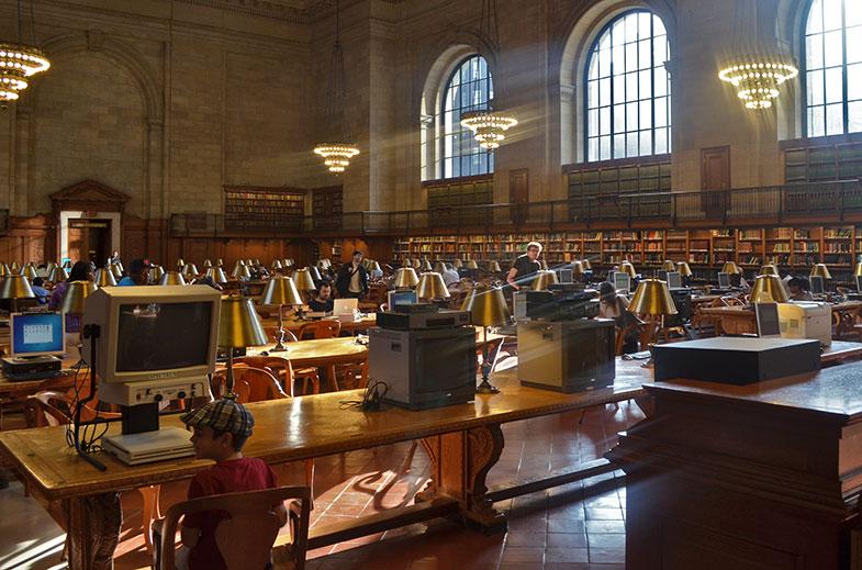 Sala de leitura da Biblioteca Pública de New York