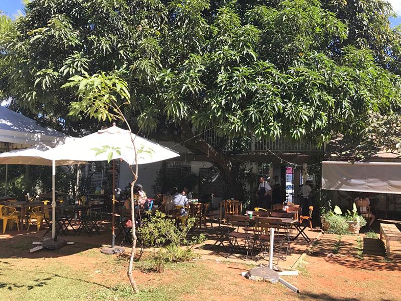 Área externa do Ernesto Cafés Especiais