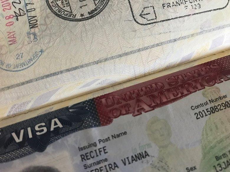 Documentos para uma viagem de avião