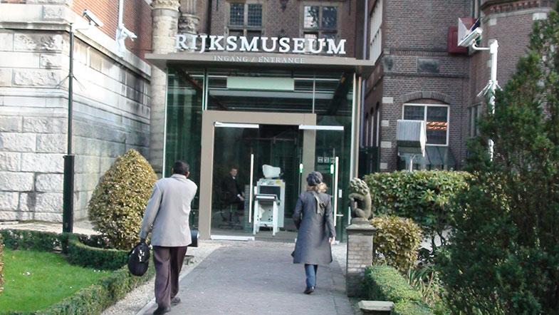 Entrada do Rijksmuseum em Amsterdam