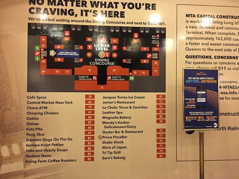 Praça de alimentação da Grand Central Station