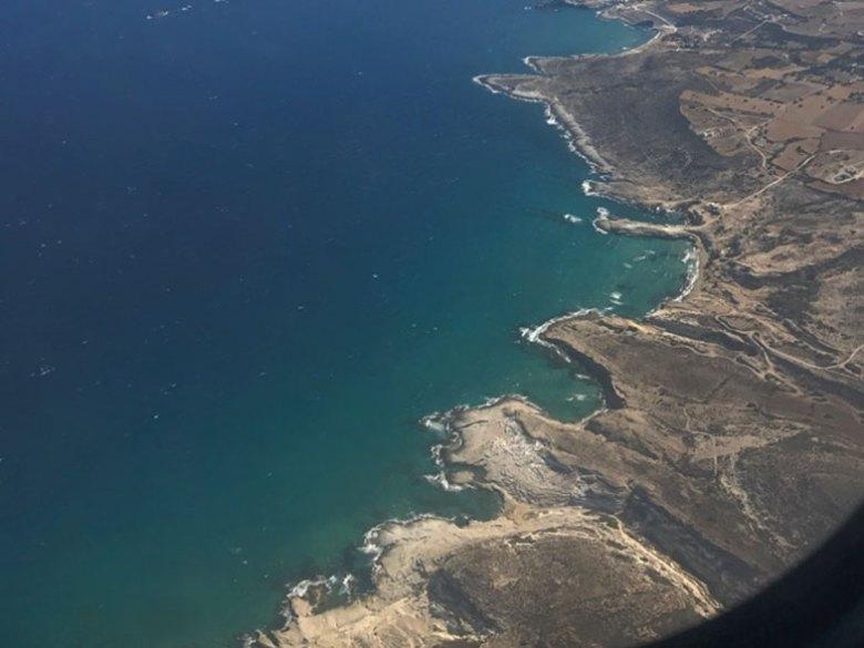 Vista durante o voo com a Olympic Air entre Milos e Atenas