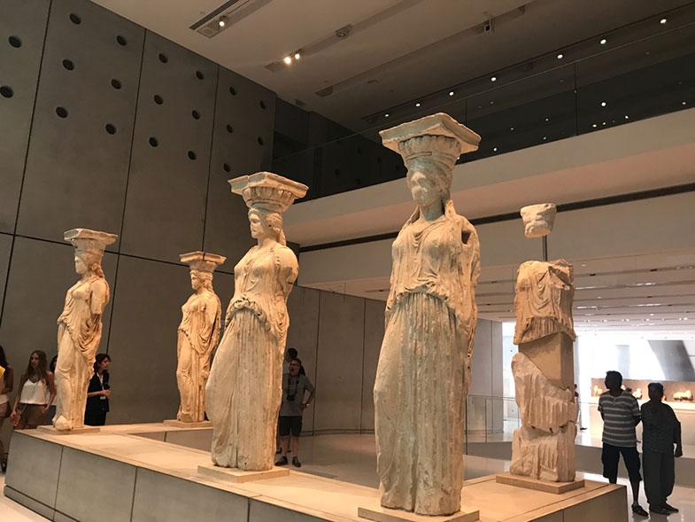 Erectreion no Museu da Acrópole de Atenas