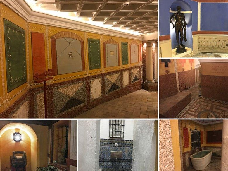 Corredores do túnel do Hotel las Casas de la Judería em Sevilha