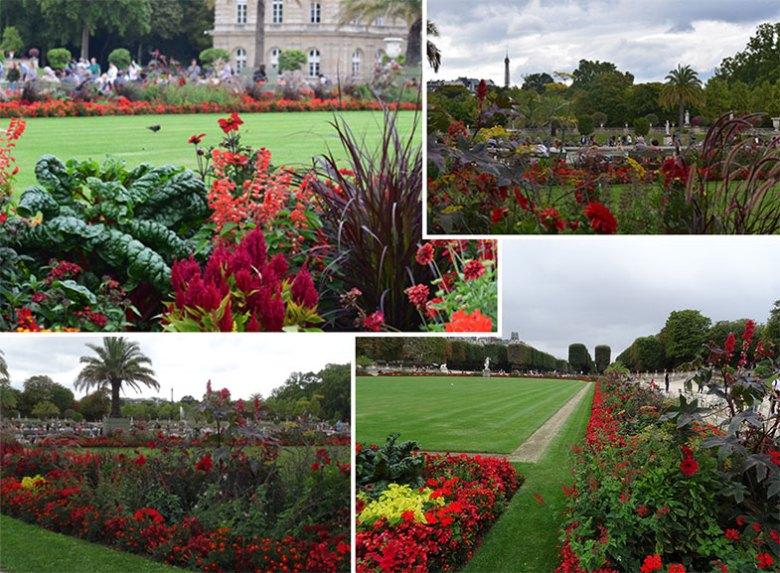 Canteiros do Jardim de Luxemburgo