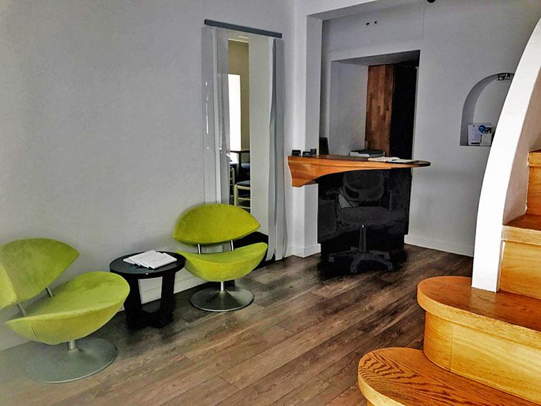 Recepção do hotel em Mykonos