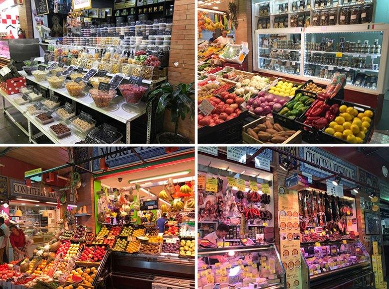 Interior do Mercado de Triana em Sevilha