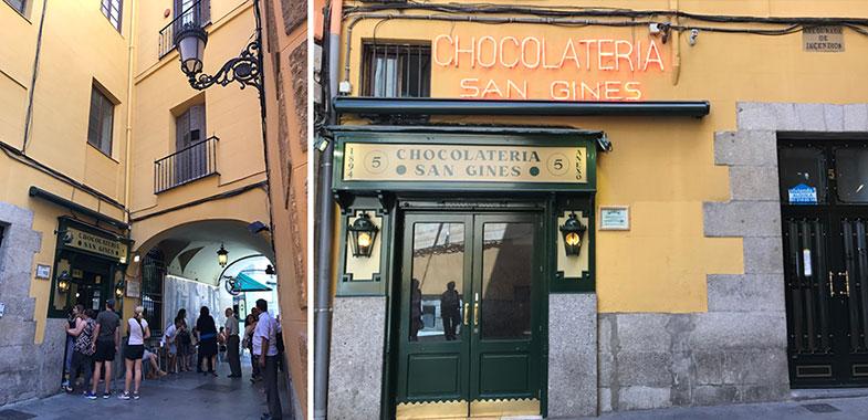 Onde comer churros em Madrid
