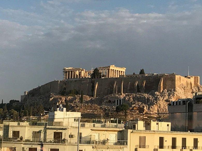 Hotel em Atenas com vista pra Acrópole