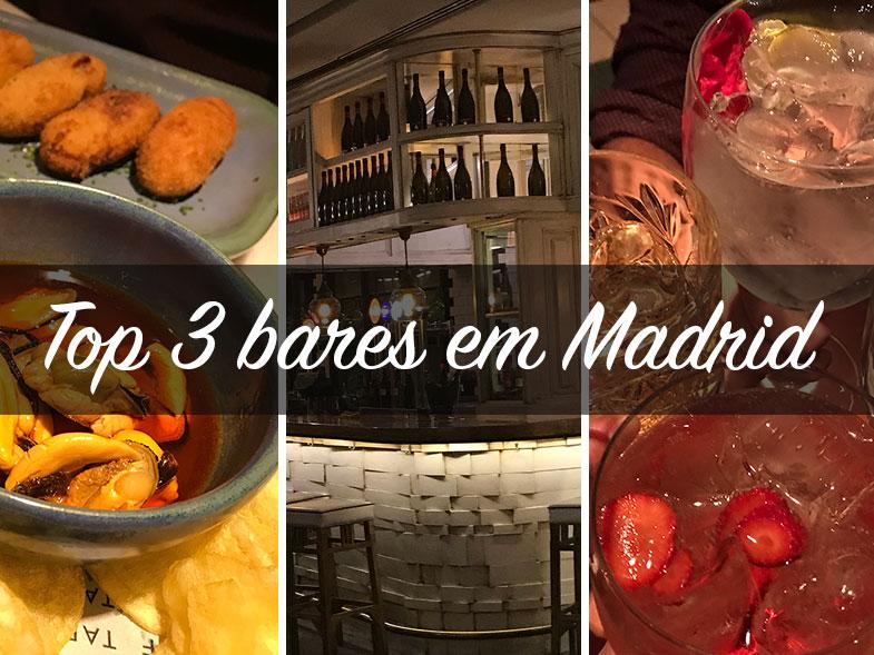 Top 3 bares em Madrid indicados por madrilenhos