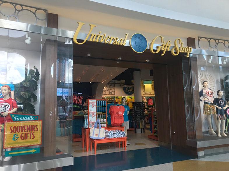 Loja do hotel dentro da Universal