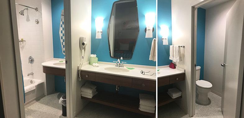 Banheiro do Universal's Cabana Bay Beach Resort