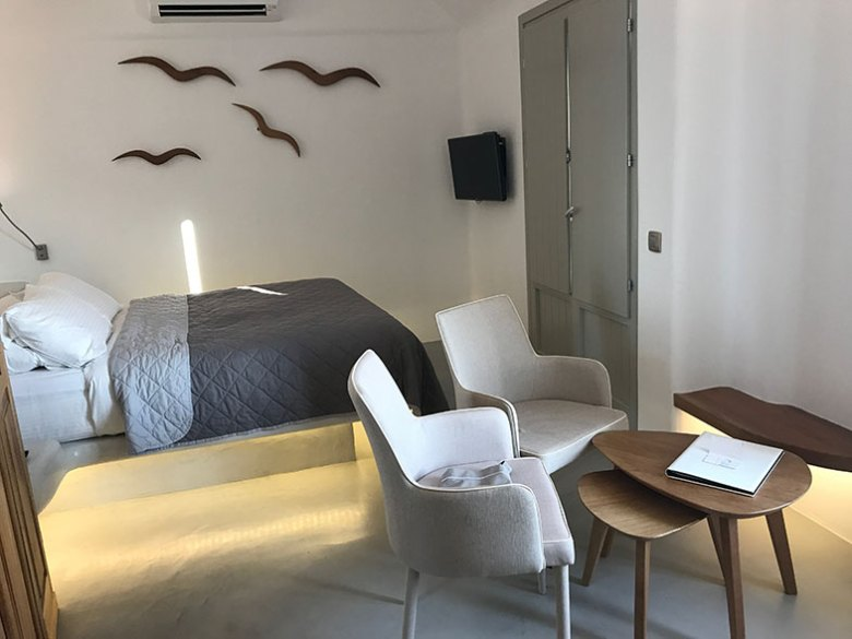 Nosso quarto no La Perla Villas em Santorini