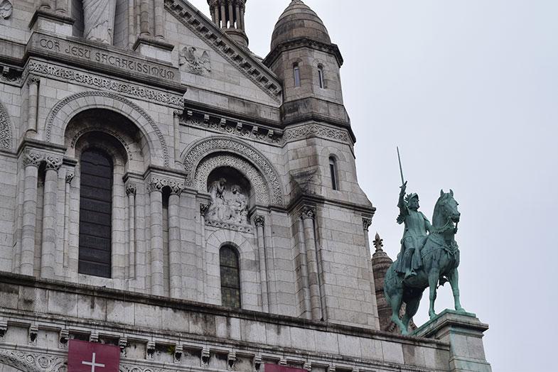 Detalhe da fachada a Sacré Couer