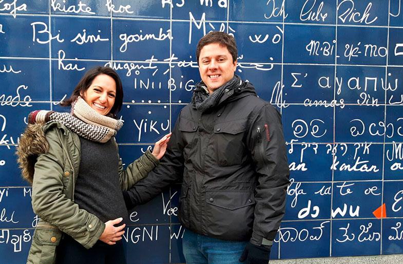 Muro eu te amo em Montmartre