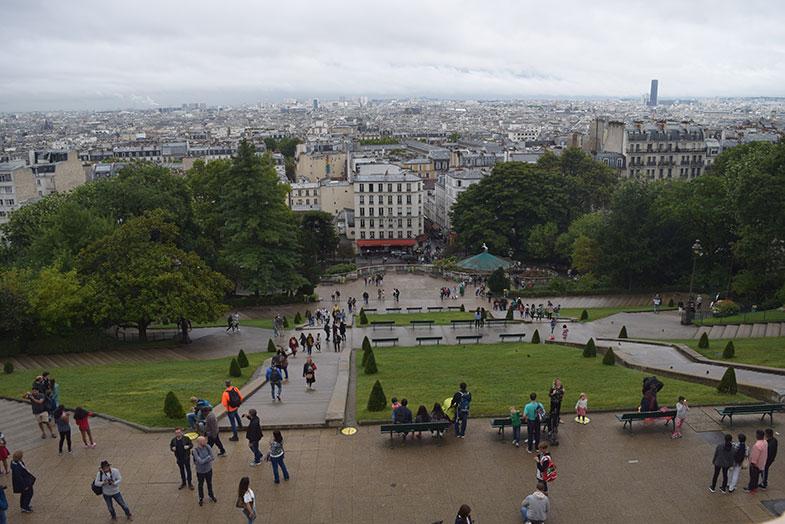 Vista de Paris da Sacré Couer
