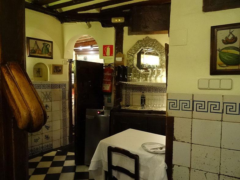 Interior do El Botin em Madrid