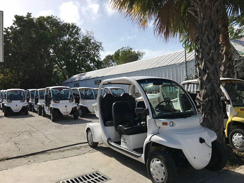 Carros de golfe para passear em Key West