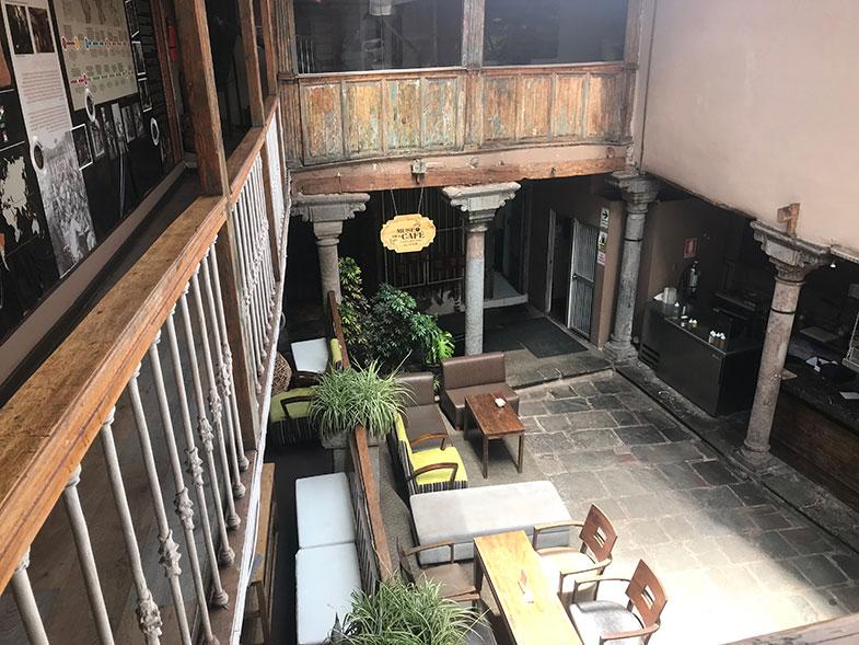 Cafeteria no Museu do Café em Cusco