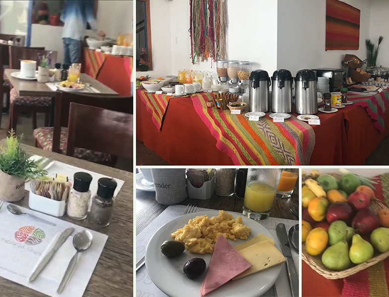Café da manhã nos hotéis em Cusco