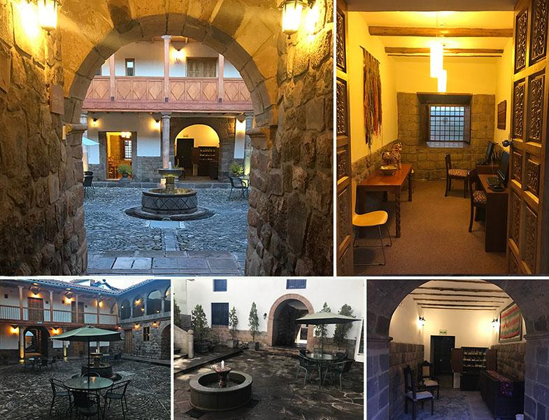 Pátios de hotéis em Cusco