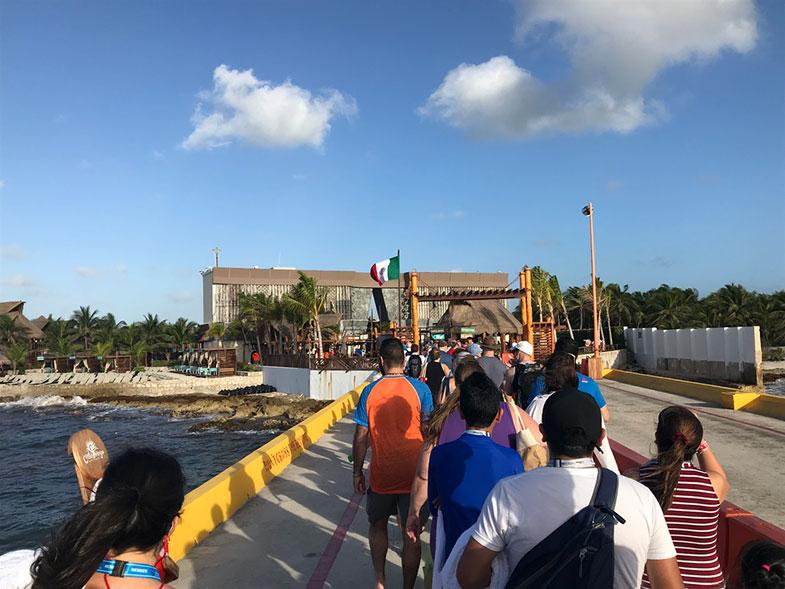 Passeio foi cancelado em Costa Maya