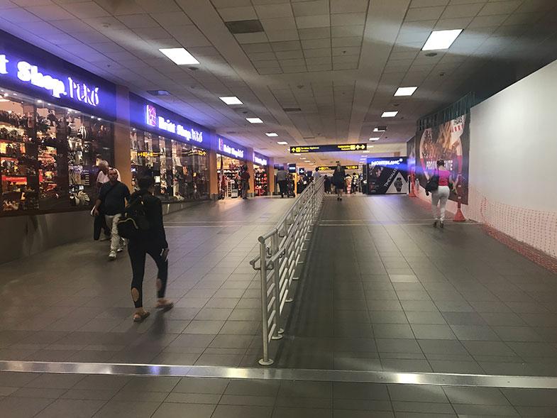 Corredores do aeroporto de Lima