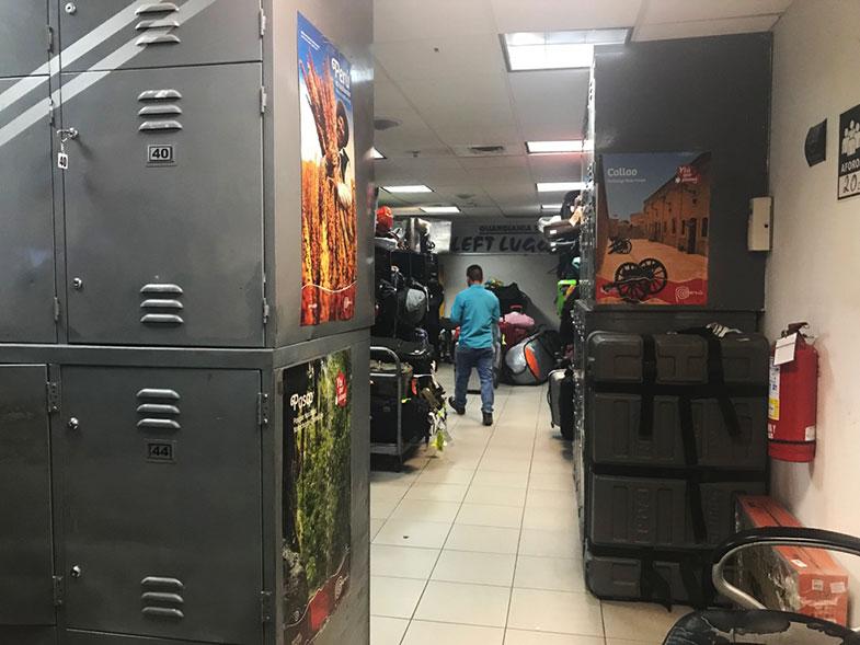 Guarda-volumes do aeroporto de Lima