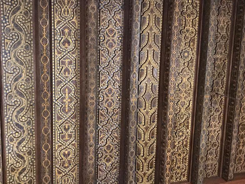 Detalhes de madeira da Mesquita de Córdoba