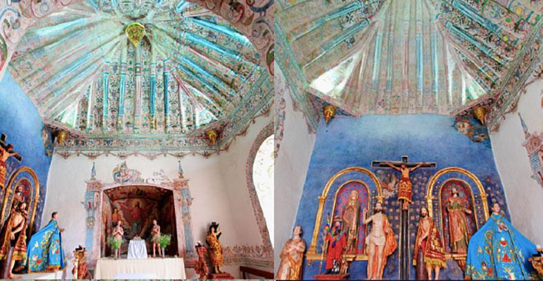 Uma das capelas laterais da Capela Sistina das Américas