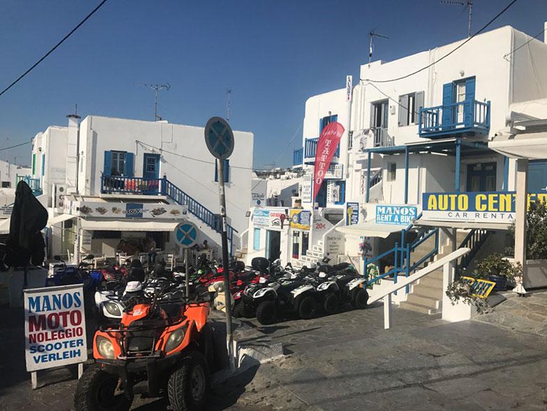 Locadoras de quadriciclo em Mykonos