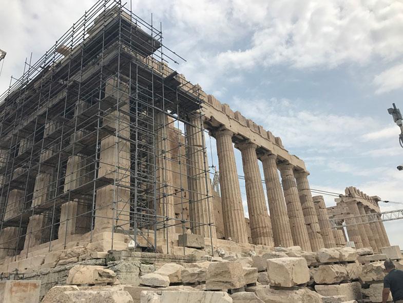 Pártenon em Acrópole em Atenas